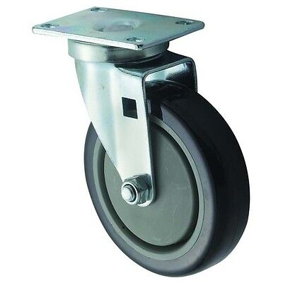 Winco CT-23, Universal Casters, 2.38x3.63-Inch Plate, 5-Inch Wheel, 2-Piece Set