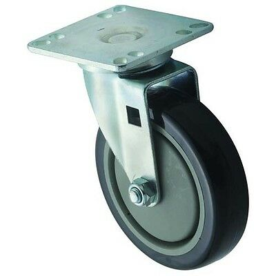 Winco CT-33, Universal Casters, 3.5x3.5-Inch Plate, 5-Inch Wheel, 2-Piece Set
