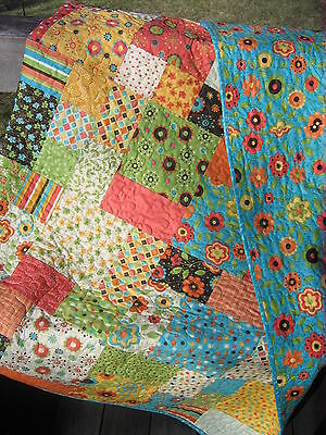 Patchwork QUILT PATTERN Fat Quarters, beginner, quick, fast, easy