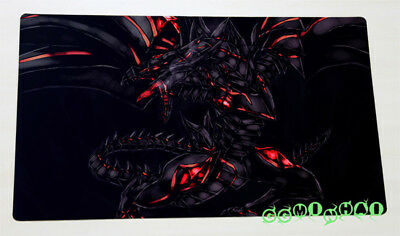 D401 Free Mat Bag Red-Eyes Darkness Dragon Play Mat Custom Yugioh TCG Playmat