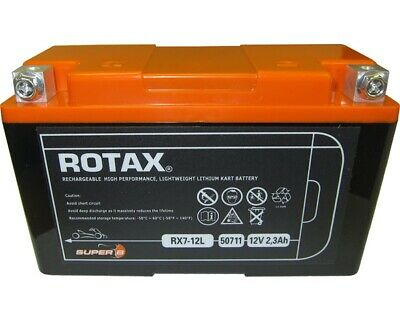 Rotax Max Genuine Lightweight Battery Lithium Type 12V-2.3Ah UK KART STORE