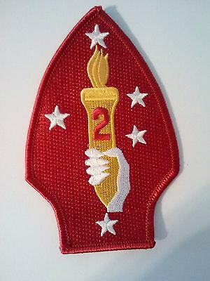 U.S. Marine Corps Regulation 2nd Division Patch ( Made in America)