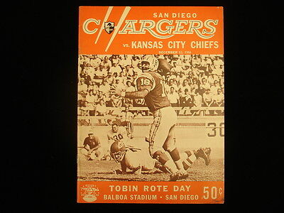 December 13, 1964 SD Chargers vs. KC Chiefs Program – EX