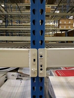 Used Teardrop Pallet Rack Shelving Racking Sections scaffolding LOT interlake