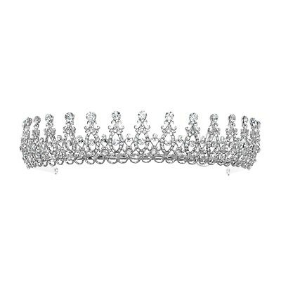 Bridal Floral Rhinestone Crystal Wedding Prom Crown Tiara 81128