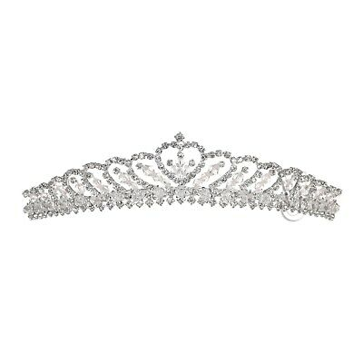 Handmade Bridal Floral Rhinestone Crystal Prom Wedding Crown Tiara 71099