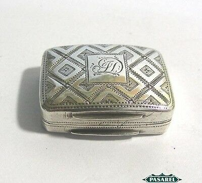 George III Sterling Silver Vinaigrette Box By Cocks & Bettridge Birmingham 1816