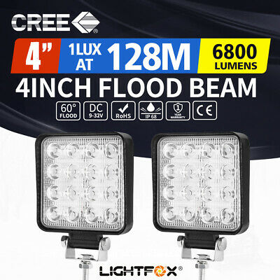 2X 80W Philips LED Flood Work Light Bar Lamp LUMILEDS OFFROAD Truck 4WD
