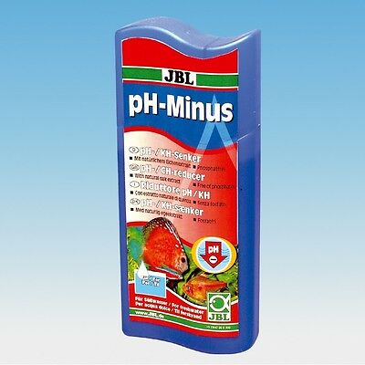 JBL pH Minus 100ml (reduction reduce soft water hardness discus dwarf cichlids)