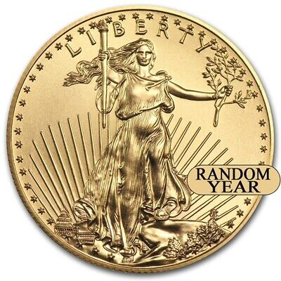 Random Year 1 oz Gold American Eagle Coin Brand New BU