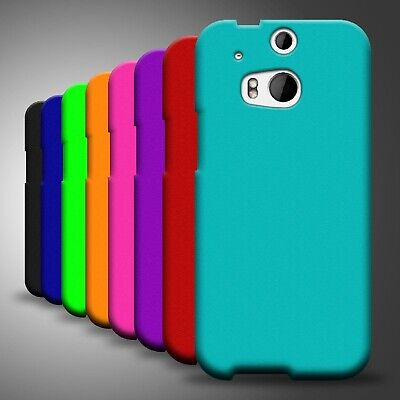 For HTC One (M8) Brand New Hard Rubberized Plastic Matte Phone Cover Case