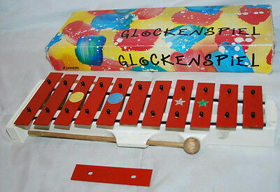"12"" Vintage Soron Glockenspiel Xylophone Made In Germany"