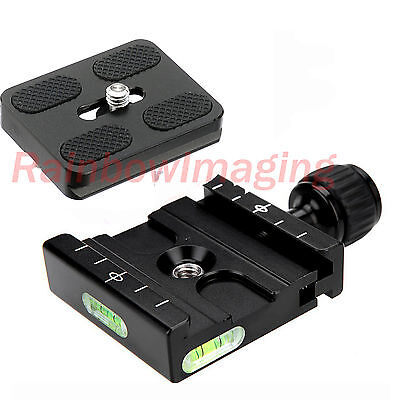 Metal Clamp & 50mm Quick Release Plate for Manfrotto Arca-Swiss Tripod BallHead