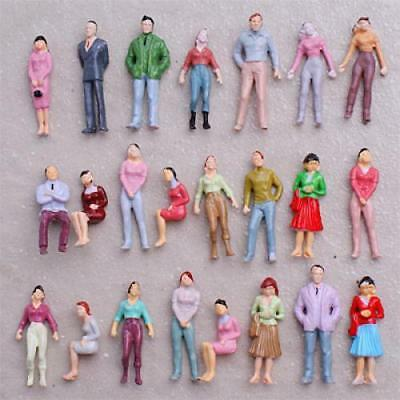 100 pcs Model People Figure O Scale 1:50 Painted Passenger