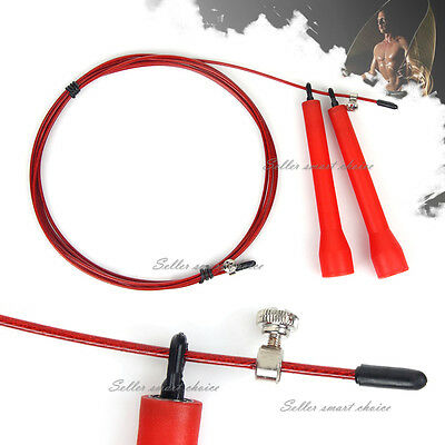 Jump Rope Crossfit Speed Cable Wire Skipping Adjustable Cardio Heart MMA Sports