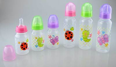 Pack of 3 150ml or 250ml Baby Bottles Feeding Silicone Teat BPA Free 0months+