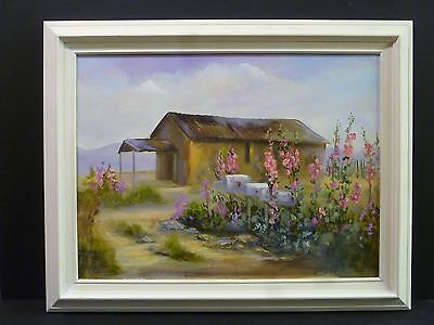 Old Country Home Landscape Original Norma Jones Jonzee 24x18 Oil Painting Frame