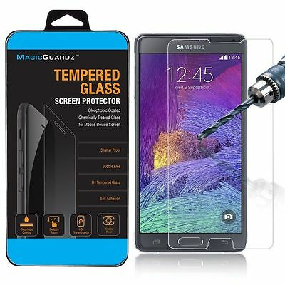 10x Wholesale Lot 10 Tempered Glass Screen Protector for Samsung Galaxy Note 4