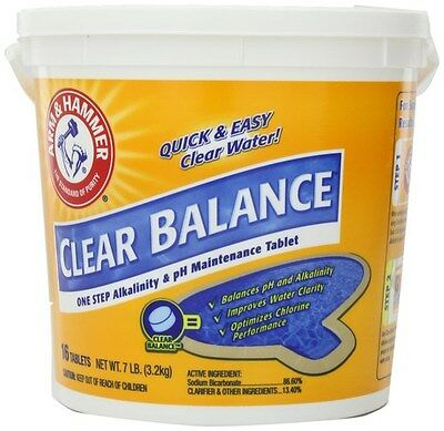 Arm & Hammer Clear Balance Pool Cleaning Maintenance Tablets, 16 Tabs, New