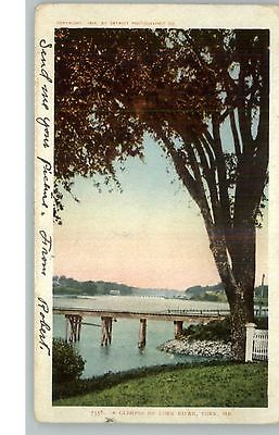 York ME Glimpse of York River Detroit Publishing c1905 Postcard