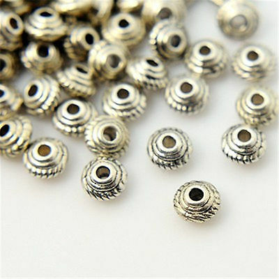 1000Pcs Wholesale Tibetan Silver Bead Spacers 1.5mm Hole Beads Beading Crafting