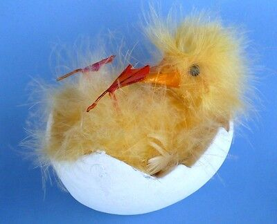 Feathery Duck Laying In Paper Mache Egg Collectible Very Cute
