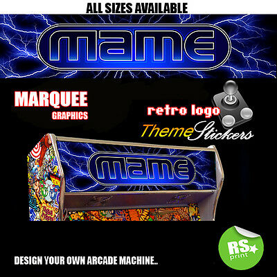 Arcade Marquee Stickers Graphics / Laminated All Designs ,Street Fighter + More
