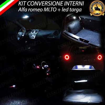Kit Full Led Interni Alfa Romeo Mito Conversione Completa  + Led Targa Canbus