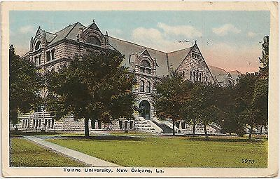 View at Tulane University in New Orleans LA Postcard 1920