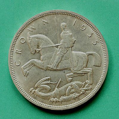 1935 - George V - Silver Rocking horse Crown - SNo31493