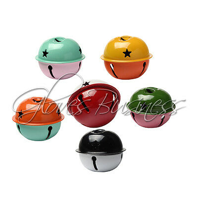 5PCS Double Color Mix Jingle Bell 40mm 1.56 inches Big For Christmas Decoration