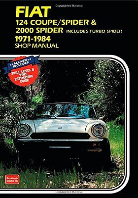 NEW Fiat 124 Coupe /Spider & 2000 Spider Shop Manual 1971-1984 by R.M. Clarke