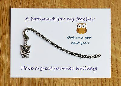 Nursery teacher ,Teacher gift, Teaching Assistant  Bookmark Can be personalised.