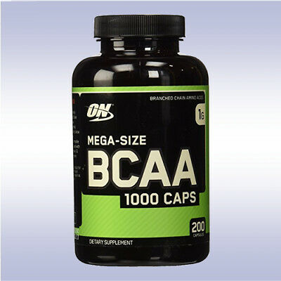 OPTIMUM NUTRITION BCAA 1000 CAPS (200 CAPSULES) branched chain amino acids on