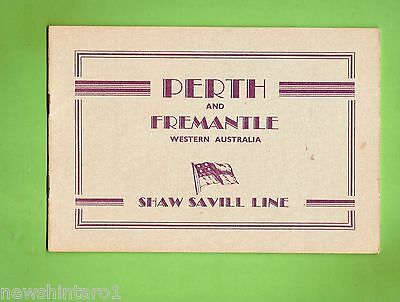 #D179. 1950s  SHAW SAVILL LINE SHIPPING TOURIST BOOK FOR PERTH