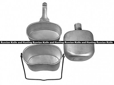 Military Soviet Army VDV Paratroopers combined mess kit pot bowl kettle flask