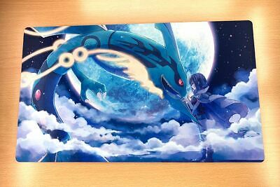 Pokemon  Playmat Trading Card Game YuGiOh Custom CCG Mat Free High Quality tube