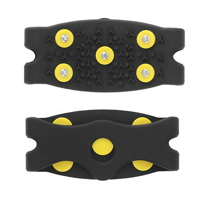 Anti Slip Snow Ice Climbing Spikes Grips Crampon Cleats 5-Stud Shoes Cover FE