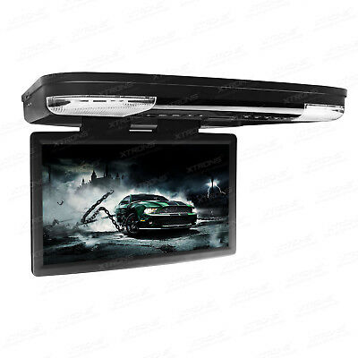 "15.6"" HD Car Flip Drop Down DVD Player Monitor HDMI Game AUX Freeview Digital TV"