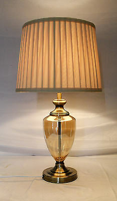 Antique Brass Classic Table Decoration Lamp With Glass Base JYK009
