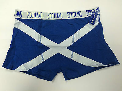 Mens Soft Cotton Saltire Scotland Boxer Shorts Brand New With Tags