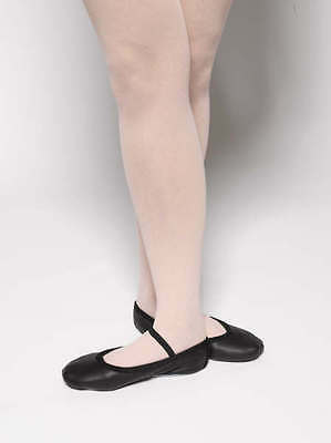 Black leather  full sole ballet shoes - mixed sizes and brands