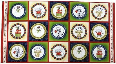 Joy, Peace, Love, Noel Christmas Quilting Cotton Fabric Panel  - Henry Glass