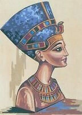 Nerfertiti Egyptian Queen Tapestry Canvas Collection D Art