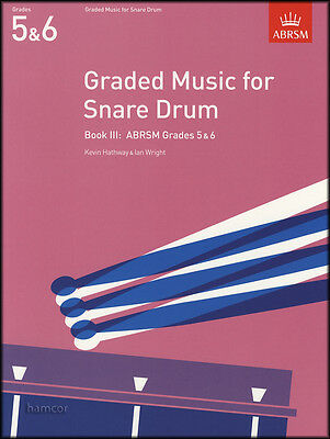 Graded Music for Snare Drum Book 3 ABRSM Grades 5-6 Exam Sheet Music Book