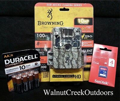 Browning Trail Cameras Field Ready Package Strike Force HD Video BTC-5HD w/ MORE