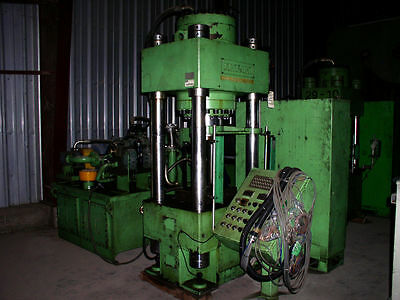 Dongsung 300 Ton Hydraulic Press; 4-Post Down-Acting Type with Ejector/Cushion