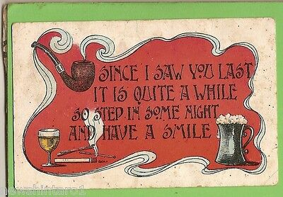 #a.   Postcard - Tobacco Pipe & Beer