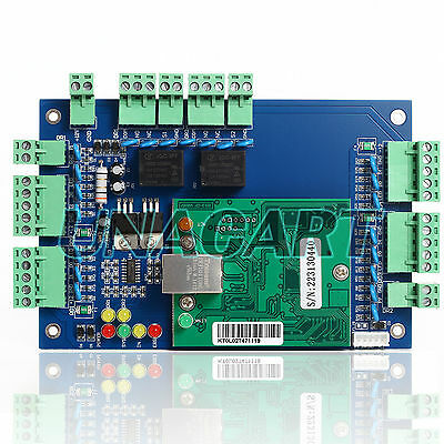 Ethernet TCP IP Network Access Control Circuit Board Panel Control For 2 Doors