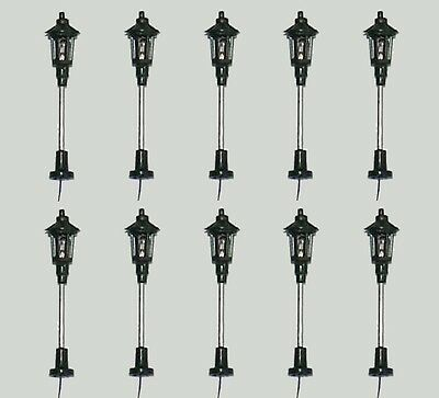 S091 - 10 Pcs Lamps Streetlights Parklampe 1-burner 5cm Park Lights
